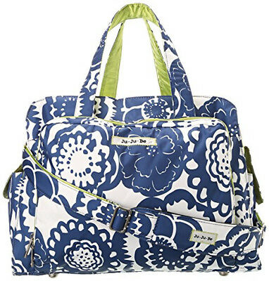 Ju Ju Be Cobalt Blossoms Be Prepared Pre-owned Diaper Bag and Changing Pad