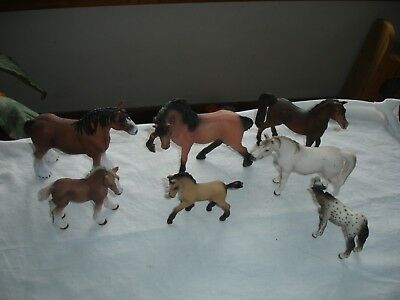 horses toy schleich Breyer lot of 7 horses