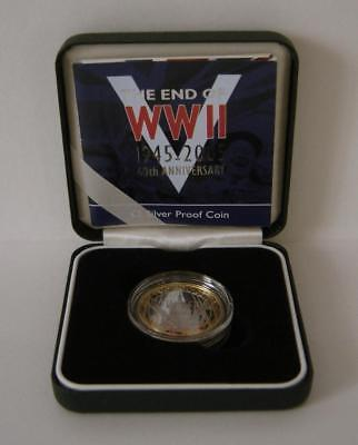 A Royal Mint United Kingdom 2005 Silver Proof WWII 60th Anniversary £2 Coin