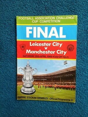 1969 FA CUP FINAL - LEICESTER CITY v MANCHESTER CITY - FOOTBALL PROGRAMME