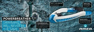 New Performance Aid Ameo Powerbreather Sport Snorkel For Fitness Athletes