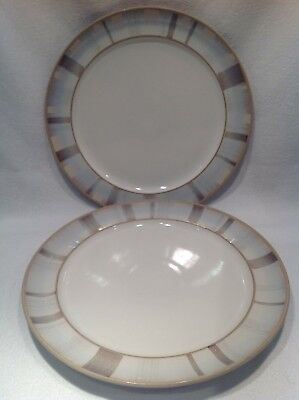 denby truffle Layers Large Dinner Plates X2, 28cms Diameter.