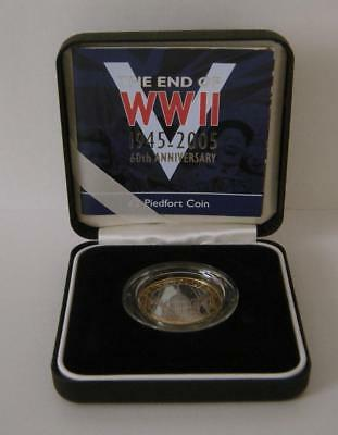 A Royal Mint United Kingdom 2005 Silver Proof Piedfort WWII Anniversary £2 Coin
