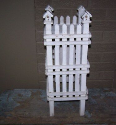 Vintage Shabby Chic, Cottage Hand Made Wood Plant Stand, Original Paint, Neat !