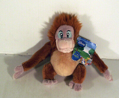 "8""  Walt Disney Animal Friends King Louie Monkey Soft Toy Jungle Book"