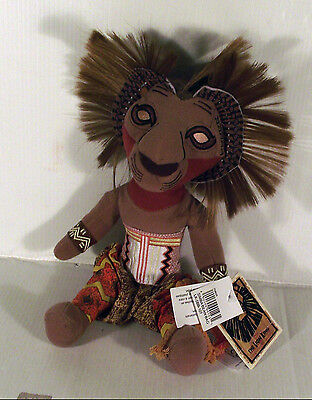 """10"""" Simba In Battle / Head Dress The Lion King Broadway Musical Soft Toy"""