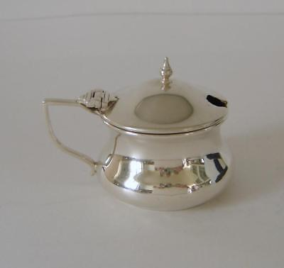 A Vintage Chester Sterling Silver Mustard Pot