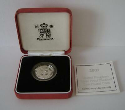 A Royal Mint United Kingdom 2001 Silver Proof Piedfort £1 Coin