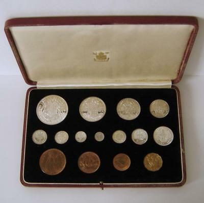 A Cased Great Britain 1937 George VI Royal Mint 15 Coin Specimen Coin Set