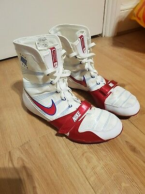 Nike HyperKO Boxing Boots, White/Red (UK Size 11) - Nearly New!