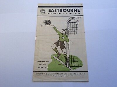 1950/51 FA Cup Eastbourne v Horsham 30 September 1950