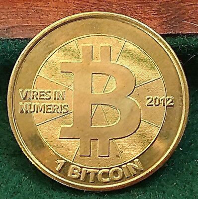 Physical Casascius 1 Bit coin Unfunded 2012 coin no value loaded