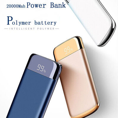 Power Bank External Battery Slime 20000mah LED quick charge with Dual USB