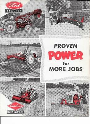 Vintage Ford Dearborn Tractor Proven Power For More Jobs Brochure