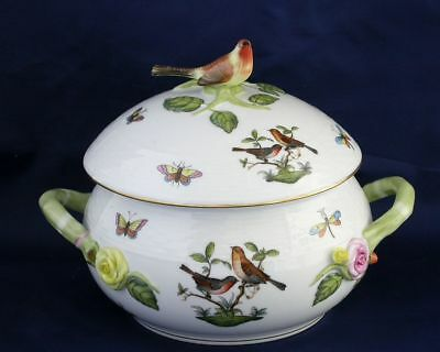 Herend Rothschild Bird design round covered vegetable dish     NO RESERVE