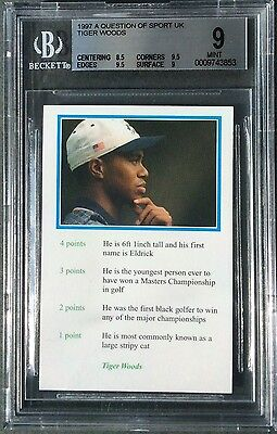 Tiger Woods 1997 ROOKIE Card BBC A Question Of Sport BGS 9 MINT