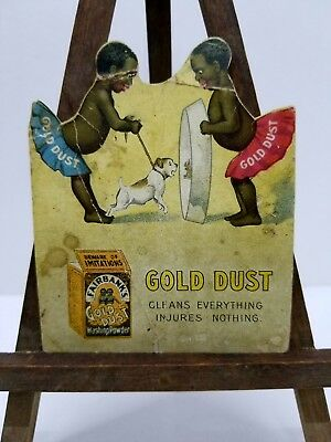 """Vintage Advertising Card for """"Gold Dust Washing Powder"""" w/ Gold Dust Twins"""