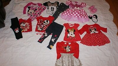 Girls 2T Minnie Mouse Huge Lot Shoes Costume Pajamas Top Dresses Sets Disney