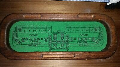 Vintage Mini Craps Table Earth One Wood Products Denver, CO 1986