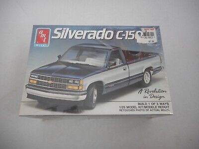 AMT 1989 Chevy Silverado C-1500 Pickup Truck Model Kit 1/25 Factory Sealed!!