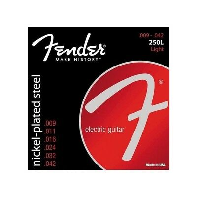 Fender 250L Light Nickel-Plated Steel Electric Guitar Strings  - Ships FREE U.S.