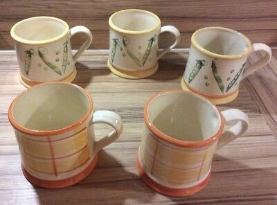 Set Of 5 Laura Ashley Summer Garden Mugs