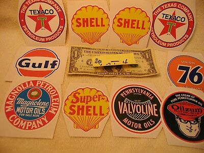 Assorted Oil Company decals - lot 4
