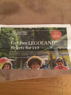 Times Legoland Codes Two Tickets For £12 Plus £1.50 Booking Fee