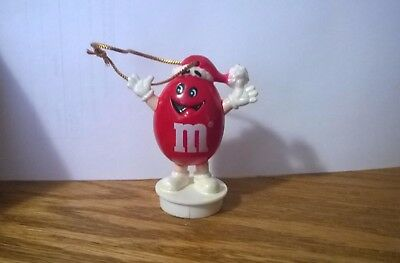 "Vintage 1988 Red M&M's Christmas Ornament 3"" Plastic"