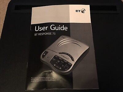Answerphone - BT Response 75 Instruction Book