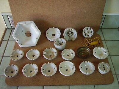 A Job Lot of French Ceramic Ceiling Light Fittings