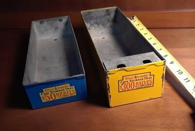 Vintage Bank Teller Coin Roll Boxes