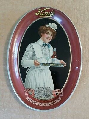 King's Puremalt,Pan-Pacific Expo Advertising Tip Tray,1915-16