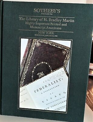 Sotheby's   The Library of H. Bradley Martin HC Auction Catalog RARE