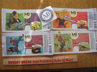 Beer Labels - 4 Different Currents from Mankato Minnesota USA