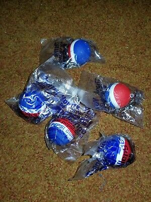 PEPSI Rubber Ball Key Chain THE PEPSI CHALLENGE Pop Soda Fob Ring Keys. Lot of 5