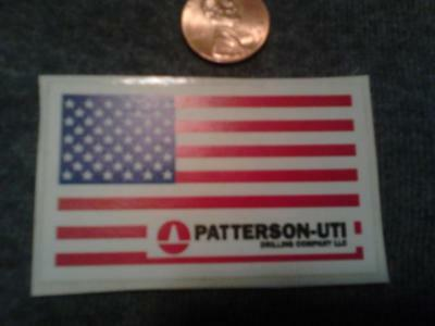 Patterson Uti Drilling Decal Usa Flag Hardhat Ruffneck Gas Well Oilfield Rig 219