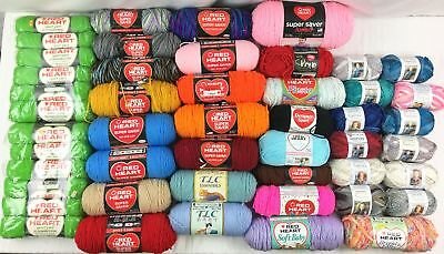 Red Heart Yarn *Large Lot of Mixed Skeins*