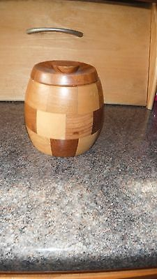 Wooden Cambridgeware Lidded Pot