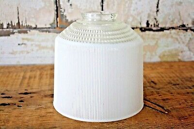 Vintage Art Deco White Frosted Glass Dome Light Fixture Shade