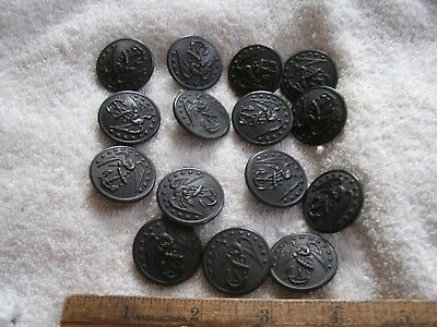Lot 15 Old Vintage Military Buttons Waterbury Scovill MFG Co