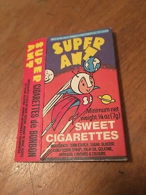 Primrose Confectionary Super Ant Candy Sweet Cigarettes Box.