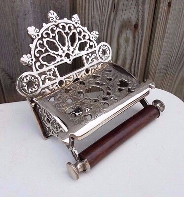 Victorian Toilet Roll Holder Unusual Novelty Vintage Retro Nickel