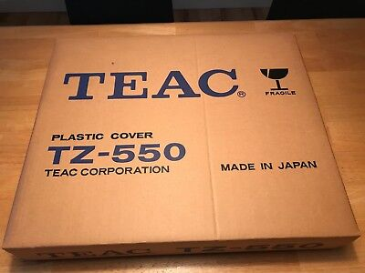 Vintage TEAC TZ-550 Reel-to-Reel Plastic Dust Cover