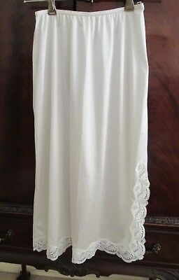 HALF SLIP Formfit Size 10 Made in Australia Lace trim at hem and on 1-sided slit