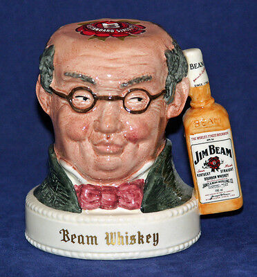 Great Double Sided Jim Beam Whiskey Jug by Doulton - Mr. Pickwick & Sam Weller