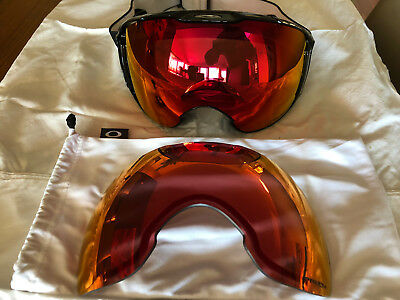 OAKLEY Airbrake XL Snow Goggle Prizm Snow Torch Iridium Lens x2 -USED ONLY ONCE
