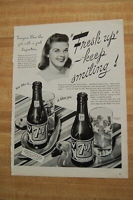 Vintage 1945  Magazine Ad - 7UP The SEVEN-UP Company
