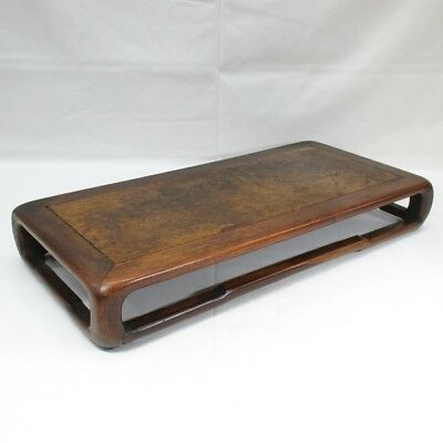 F841: Chinese old KARAKI wooden decorative stand with good grain and taste