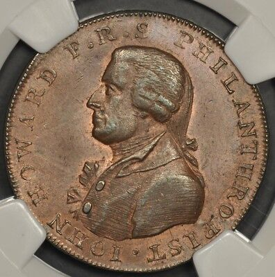 1795 Ngc Ms64Bn Great Britain Conder Token Hampshire Portsmouth D&h-57 Halfpenny